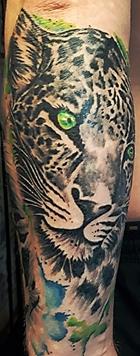 leopard tätowiert
