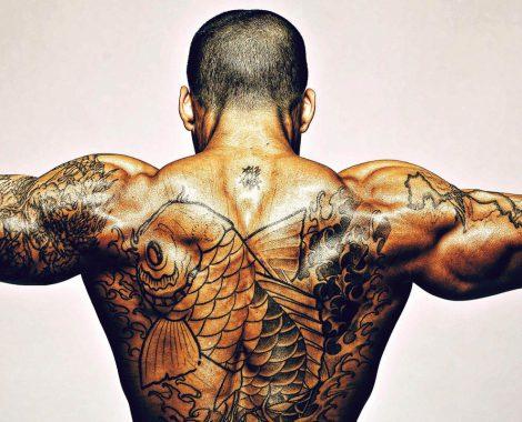 Tätowierter Rücken